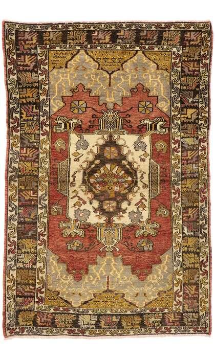 4 x 6 Vintage Oushak Rug 50194