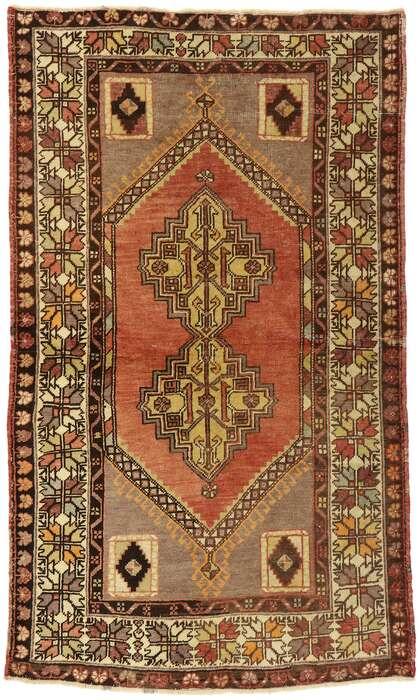4 x 6 Vintage Oushak Rug 50289