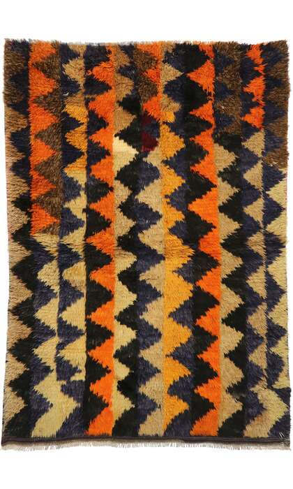 4 x 6 Vintage Turkish Tulu Rug 52712