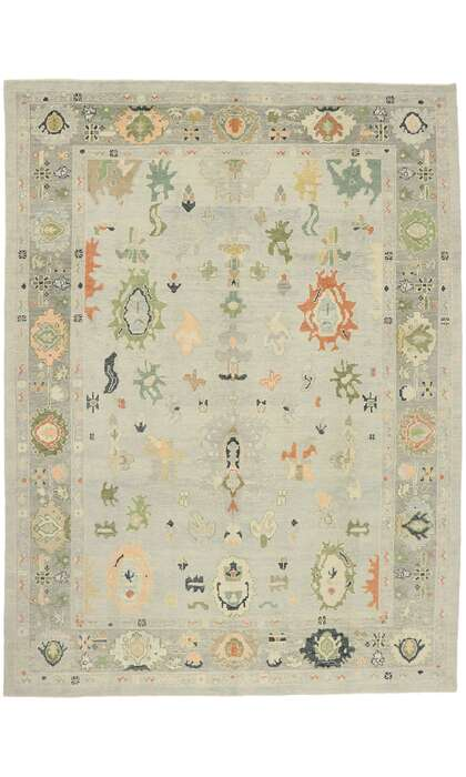 11 x 14 Contemporary Turkish Oushak Rug 52867