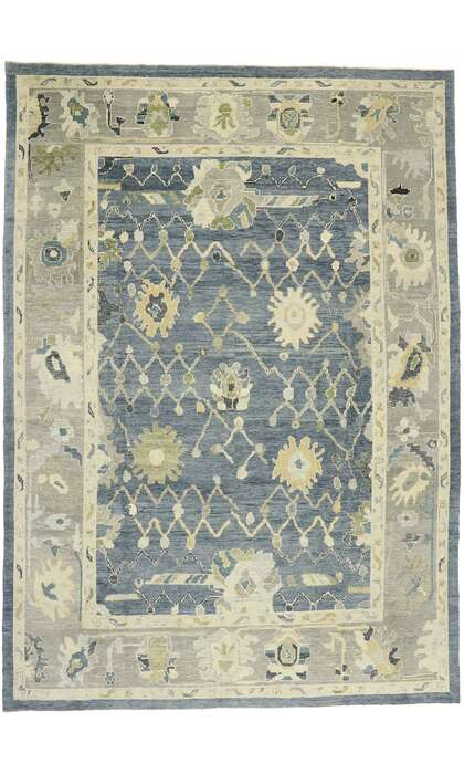 10 x 15 Contemporary Turkish Oushak Rug 52868