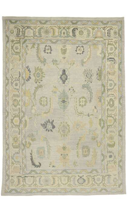 10 x 15 Contemporary Turkish Oushak Rug 52869
