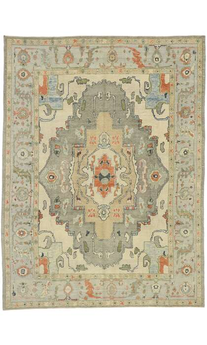 9 x 13 Contemporary Turkish Oushak Rug 52873