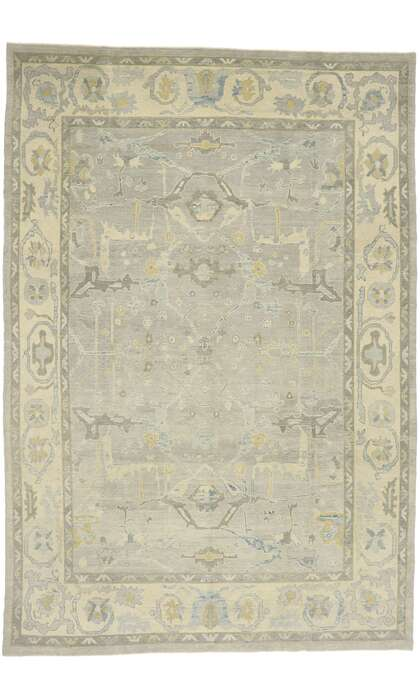 10 x 15 Contemporary Turkish Oushak Rug 52874