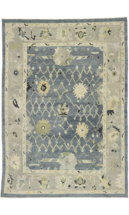 9 x 13 Contemporary Turkish Oushak Rug 52876