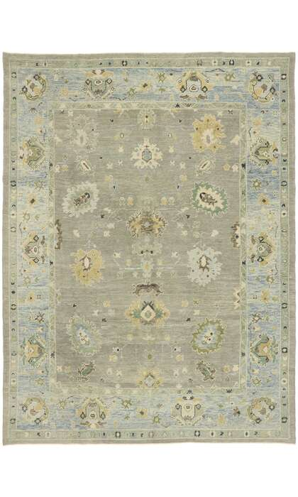 9 x 12 Contemporary Turkish Oushak Rug 52877
