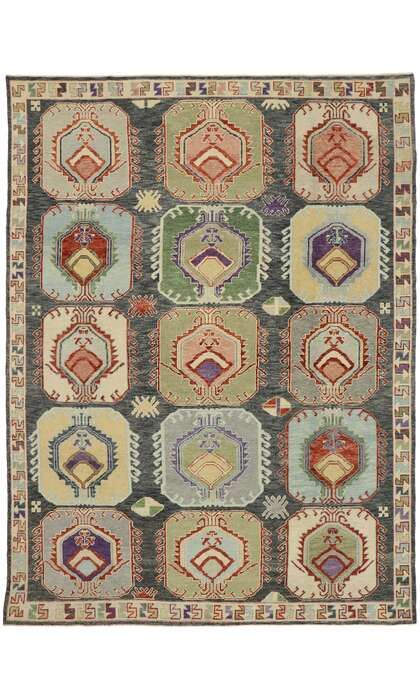 9 x 12 Contemporary Turkish Oushak Rug 52878