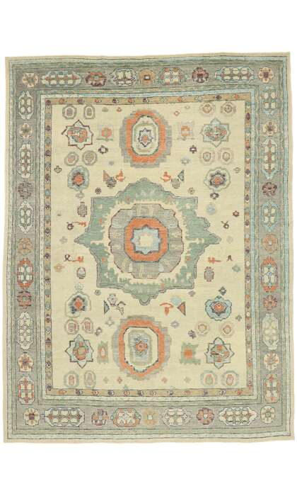 11 x 14 Contemporary Turkish Oushak Rug 52880