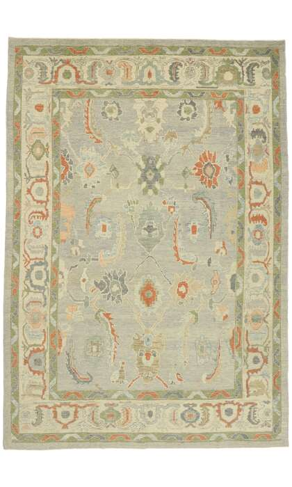 10 x 15 Contemporary Turkish Oushak Rug 52882
