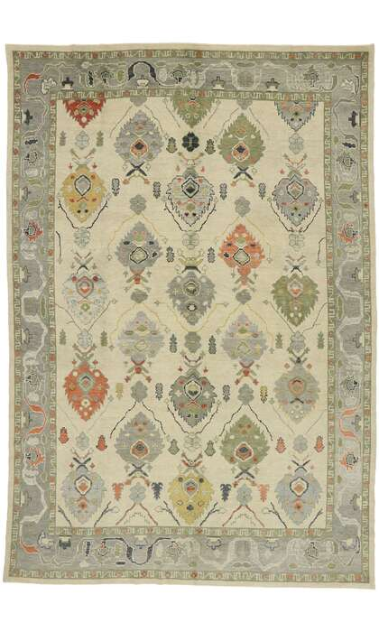 10 x 15 Contemporary Turkish Oushak Rug 52884