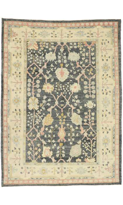 9 x 13 Contemporary Turkish Oushak Rug 528889 x 13 Contemporary Turkish Oushak Rug 52888