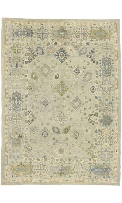 9 x 13 Contemporary Turkish Oushak Rug 52892