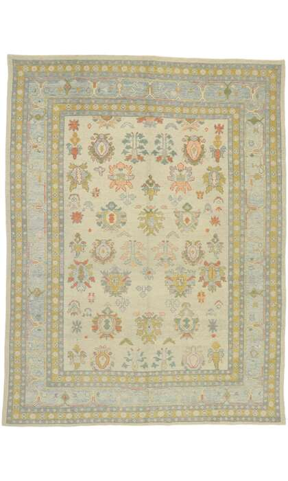 10 x 14 Contemporary Turkish Oushak Rug 52895