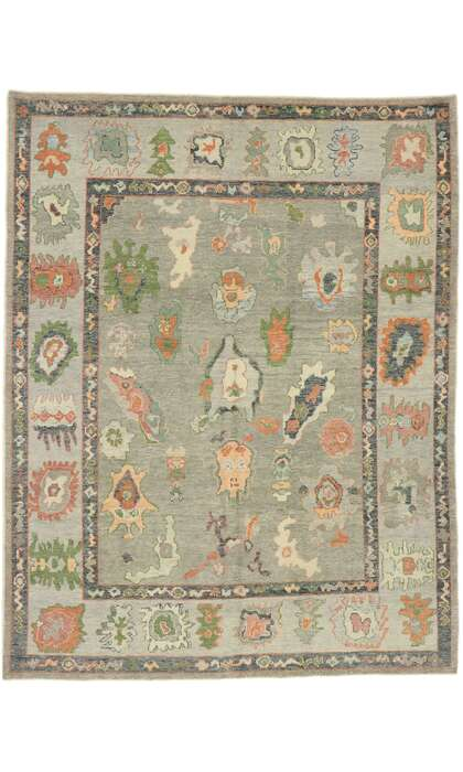 8 x 11 Contemporary Turkish Oushak Rug 52897