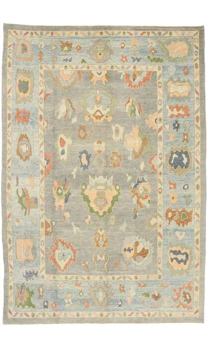 10 x 15 Contemporary Turkish Oushak Rug 52899