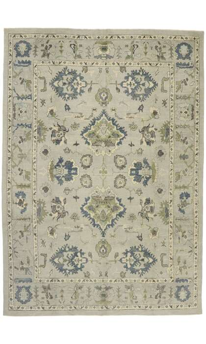 10 x 14 Contemporary Turkish Oushak Rug 52901