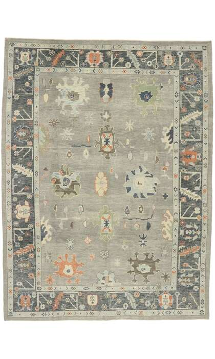 10 x 14 Contemporary Turkish Oushak Rug 52902