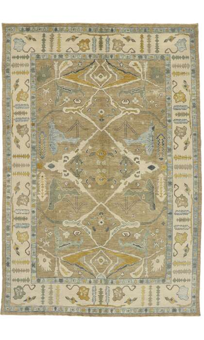 10 x 15 Contemporary Turkish Oushak Rug 52903