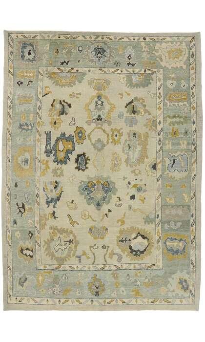 10 x 15 Contemporary Turkish Oushak Rug 52904