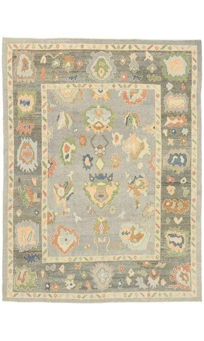 9 x 12 Contemporary Turkish Oushak Rug 52906