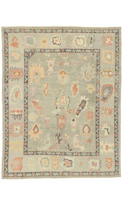 8 x 10 Contemporary Turkish Oushak Rug 52907