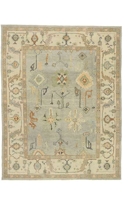 9 x 12 Contemporary Turkish Oushak Rug 52908