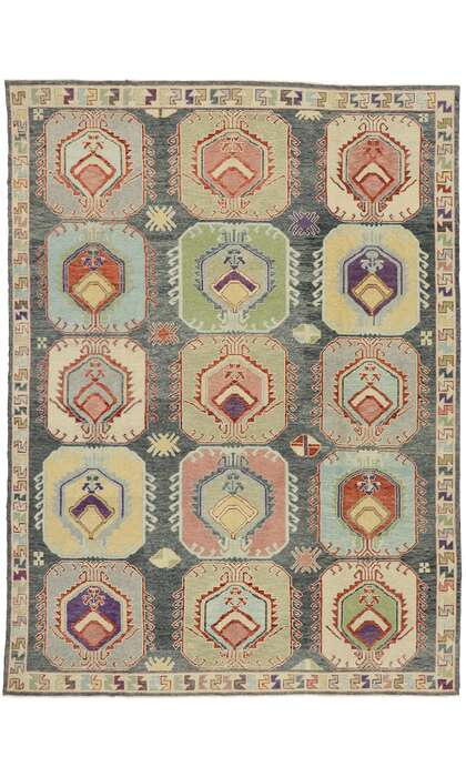 9 x 13 Contemporary Turkish Oushak Rug 52909