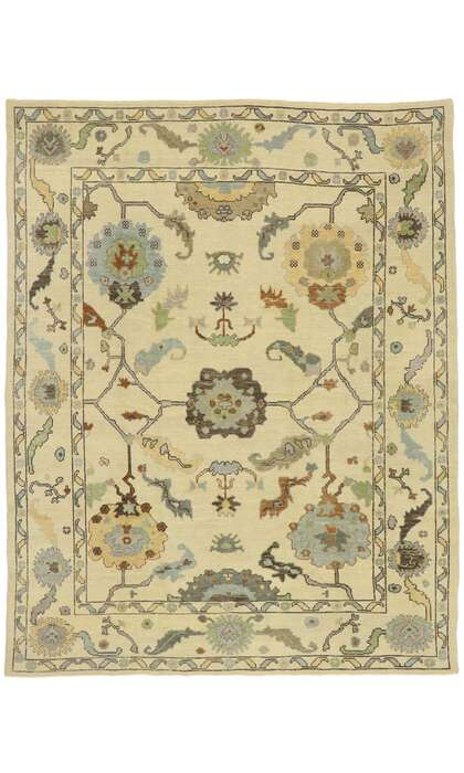 9 x 11 Turkish Oushak Rug 52919