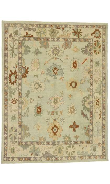 9 x 13 Contemporary Turkish Oushak Rug 52920