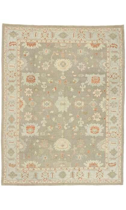 9 x 12 Contemporary Turkish Oushak Rug 52940