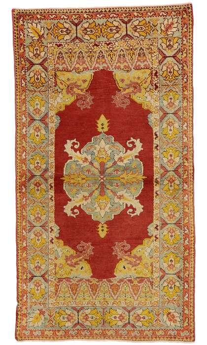 3 x 6 Vintage Oushak Rug 73867