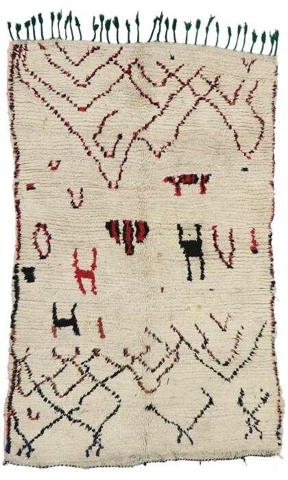 4 x 6 Vintage Moroccan Azilal Rug 74557