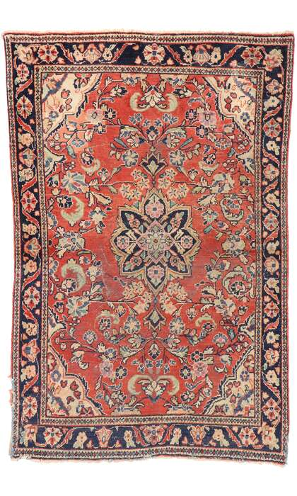 4 x 6 Antique Persian Mahal Rug 76866