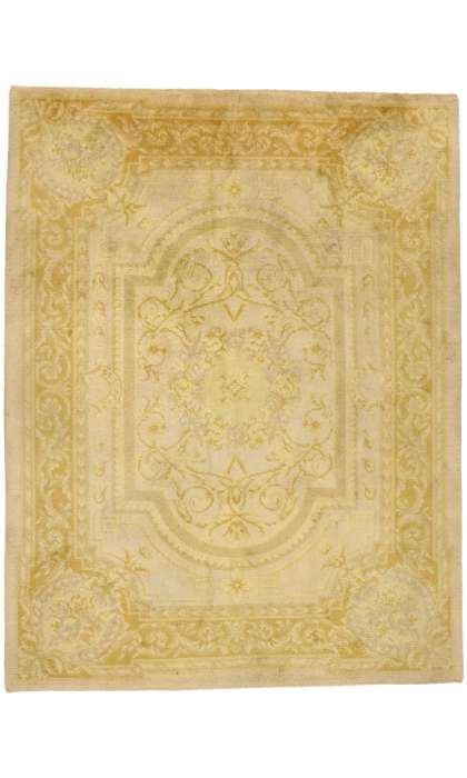 9 x 12 Antique Aubusson Rug 77421
