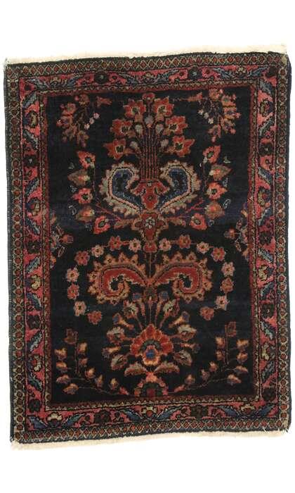 2 x 3 Antique Persian Sarouk Mohajeran 77425