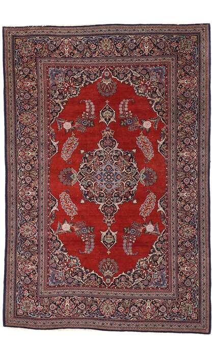 5 x 7 Vintage Kashan Rug 77427