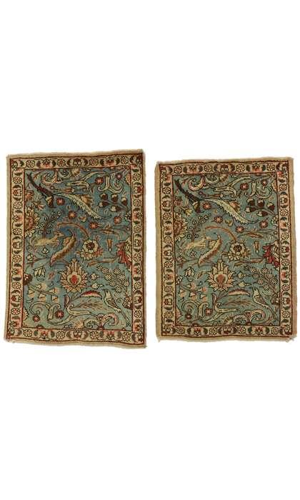 2 x 3 Vintage Tabriz Rug 77429