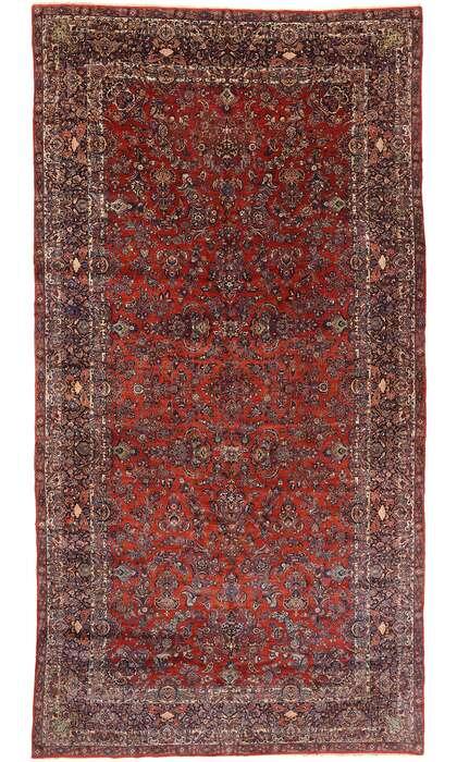 11 x 21 Antique Persian Qazvin Rug 77432