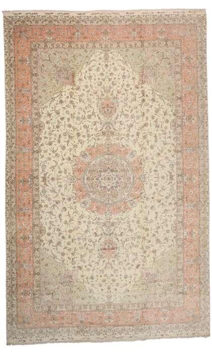 16 x 26 Vintage Persian Tabriz Rug 77438