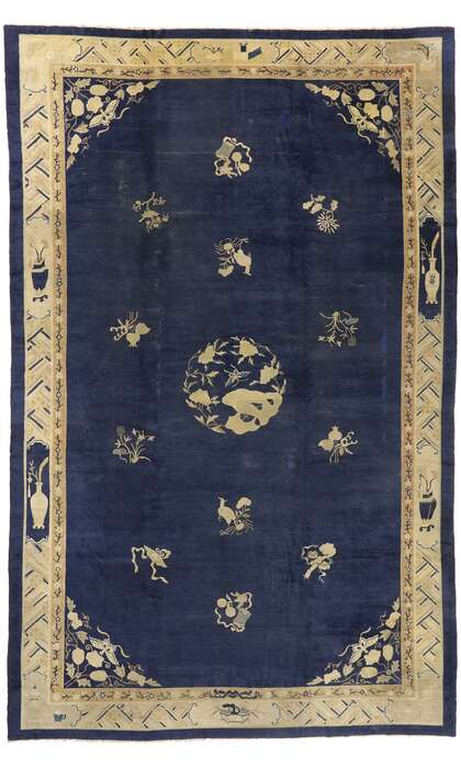 12 x 19 Antique Chinese Peking Rug 77439