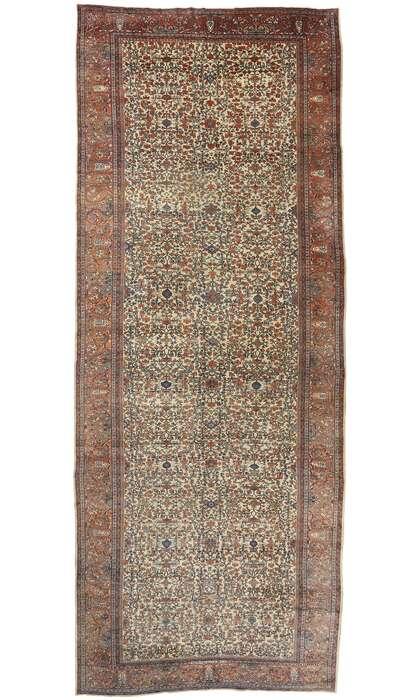 11 x 27 Antique Persian Sarouk Farahan Rug 77440