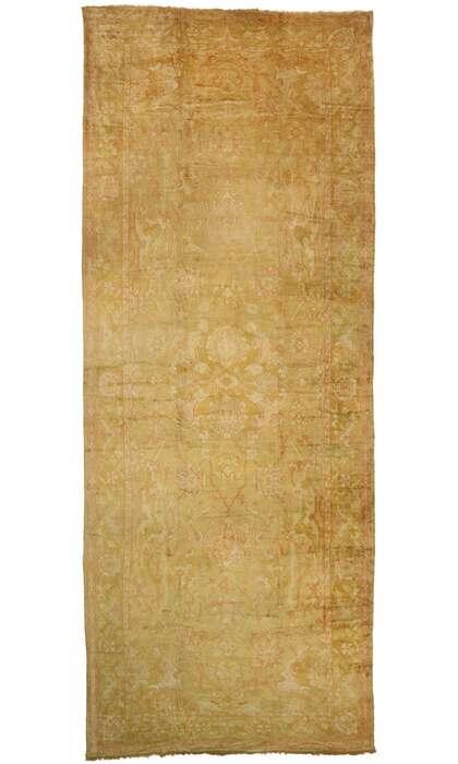 13 x 32 Antique Turkish Oushak Rug 77441