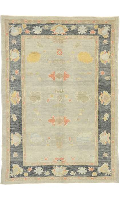 6 x 9 Contemporary Turkish Oushak Rug 52860