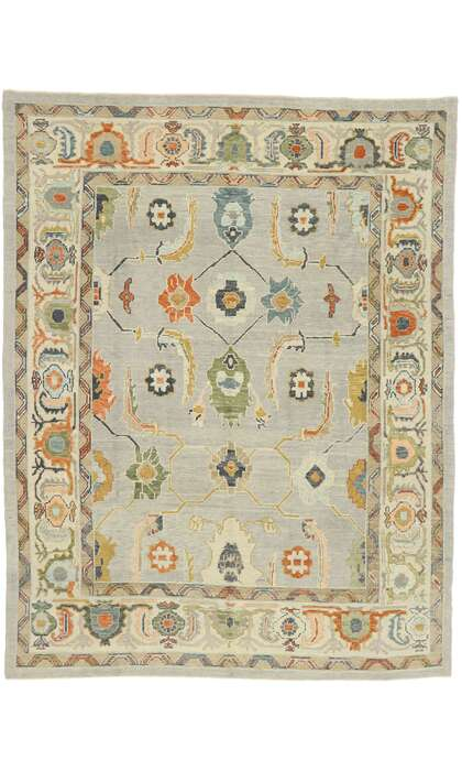 8 x 11 Contemporary Turkish Oushak Rug 52865