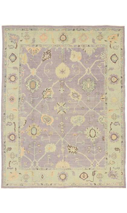 8 x 11 Contemporary Turkish Oushak Rug 52866