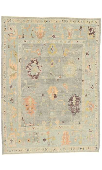 8 x 11 Contemporary Turkish Oushak Rug 52872