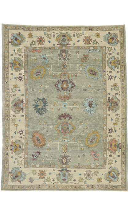 8 x 11 Contemporary Turkish Oushak Rug 52881