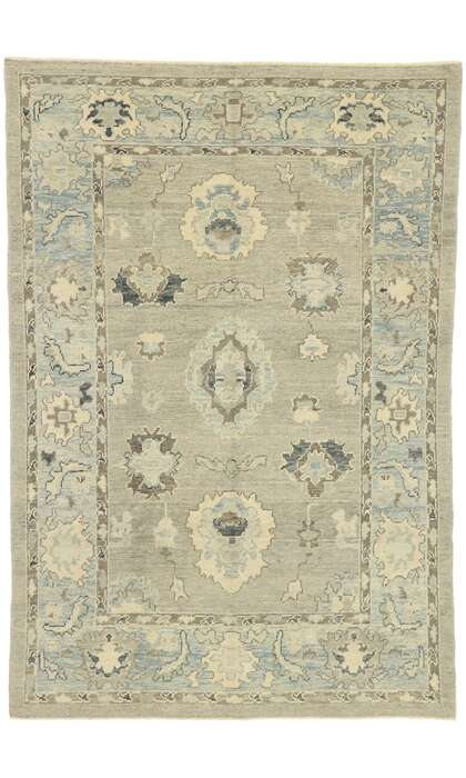 6 x 9 Contemporary Turkish Oushak Rug 52885