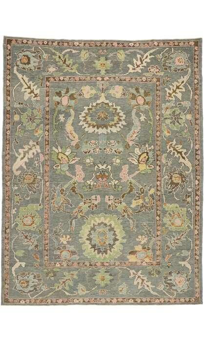 9 x 12 Contemporary Turkish Oushak Rug 52921