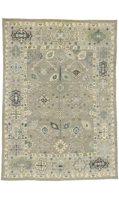9 x 13 Contemporary Turkish Oushak Rug 52922